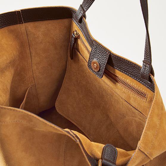 Italian Suede Handbag Mark And Graham