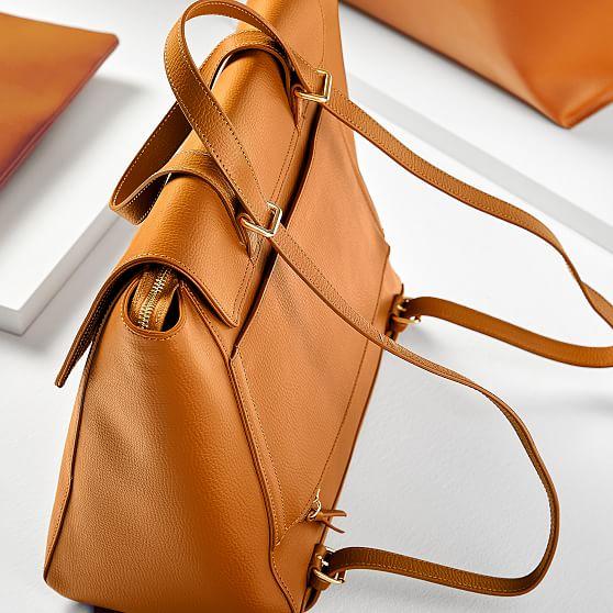 Leather Backpack Handbag