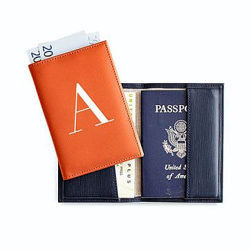Monogrammed Colorfield Passport Cover Mark And Graham