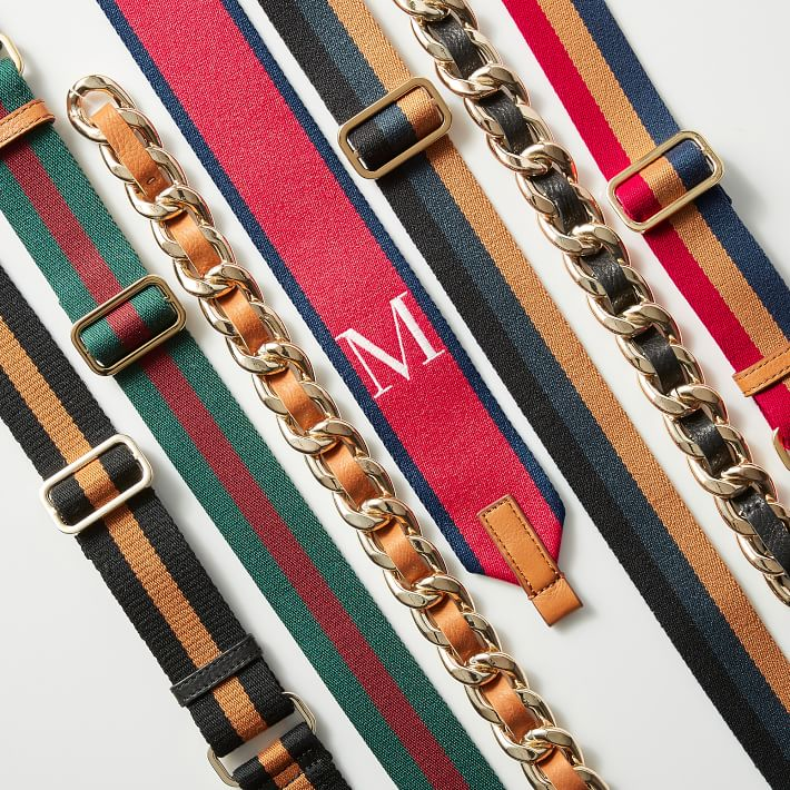 Long Belt Yellow gold buckle Colorful Straps Shoulder Bag Strap Trendy Accessories Fashionable Wide Straps Bag Accessories